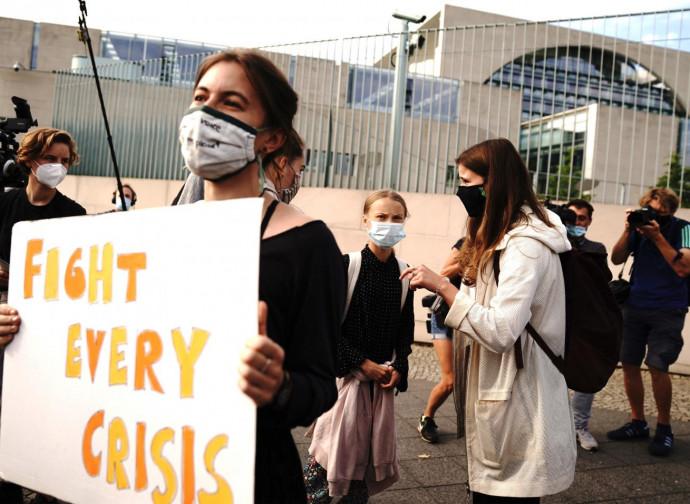 Greta Thunberg fra le attiviste del Fridays for Future in Germania