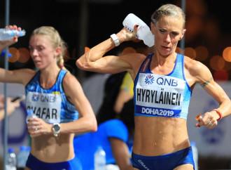 Maratona da morire a Doha, nel Qatar indegno dello sport