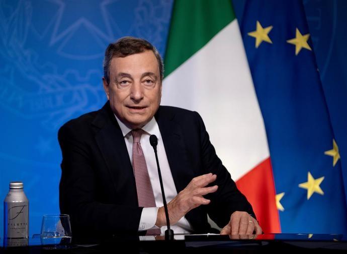 Mario Draghi al vertice sul clima