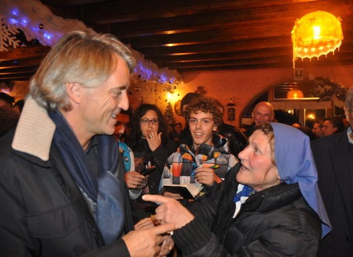 Roberto Mancini e suor Rosalina