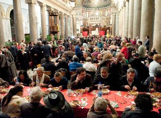 Pranzo in Basilica, si chiama profanazione