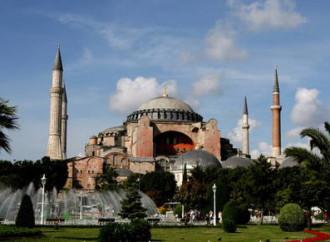 Nascosti al pubblico dal 24 luglio i mosaici cristiani della basilica di Santa Sofia