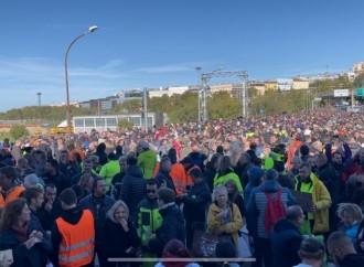 Green Pass per lavorare, la protesta di piazze pacifiche